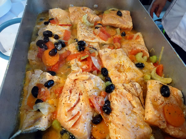Salmone mit vegetables